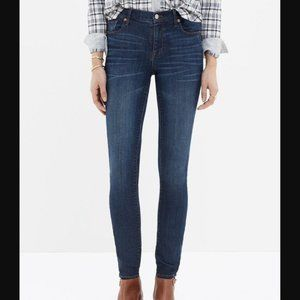 like new Madewell 'Skinny Skinny' denim blue jeans